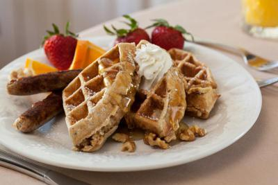 walnut oak waffles