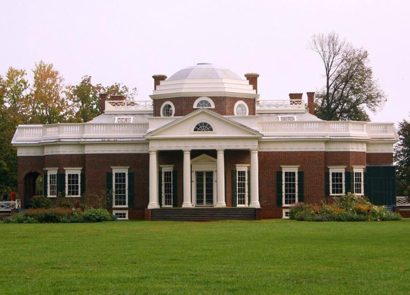 Thomas Jefferson's Monticello Charlottesville Virginia